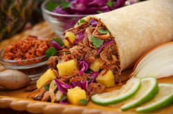 DULCE TAMARIND PORK & PINEAPPLE RED CABBAGE SLAW